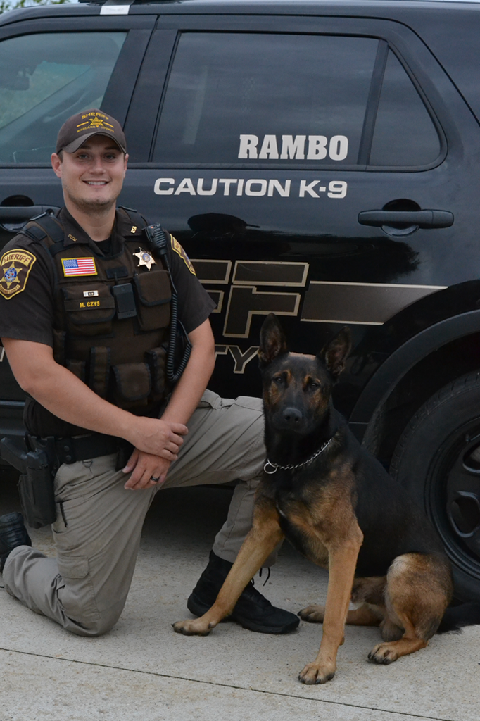 Deputy Mike Czys and Rambo